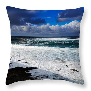Sennen Cove In Cornwall Throw Pillow by Louise Heusinkveld