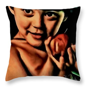 Sense Of Innocence  Throw Pillow