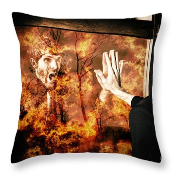 Senses Fail The Lost Touch Of Humanity Throw Pillow