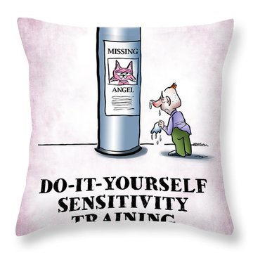 Sensitivity Training Throw Pillow