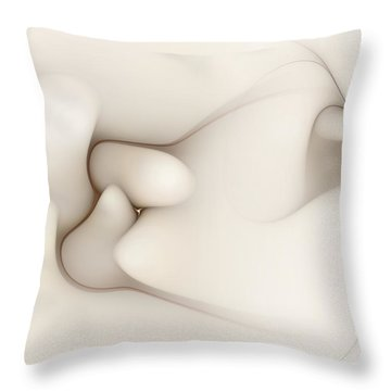 Throw Pillow featuring the digital art Sensual Manifestations 4 by Casey Kotas