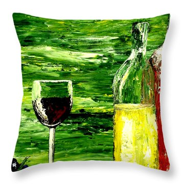 Sensual Nectar 2 Throw Pillow by Mark Moore