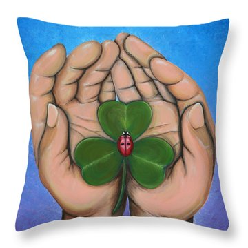 Sent From Above Throw Pillow