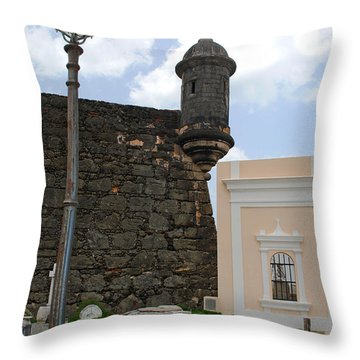 Sentinel And Cemetary Throw Pillow