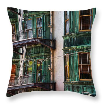 Sentinel Building Or Columbus Tower Throw Pillow by RicardMN Photography