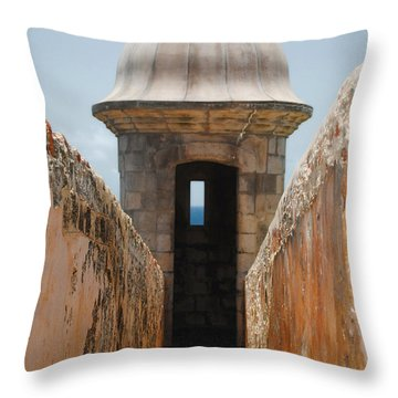 Sentinel Tower Throw Pillow