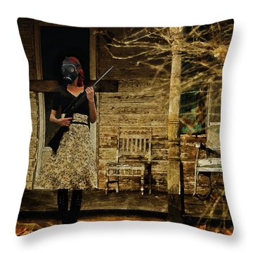 Throw Pillow featuring the digital art Sentry by Galen Valle