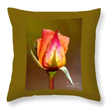 Throw Pillow featuring the photograph Sepal Green by Michael Hoard