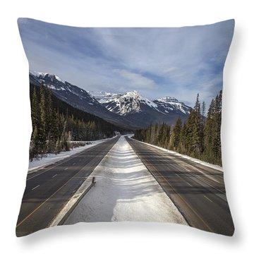 Separate Ways Throw Pillow