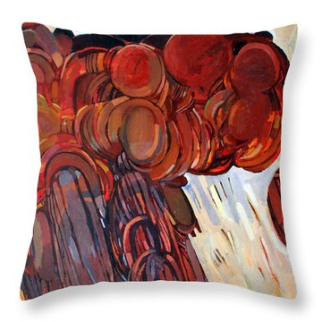 Separation Throw Pillow by Mohamed Fadul