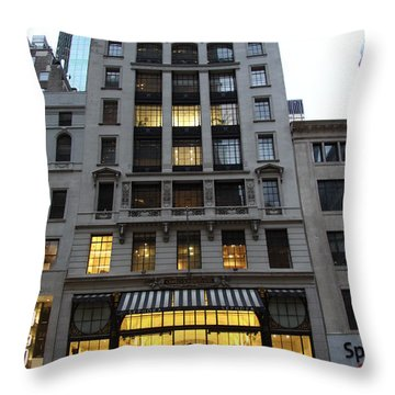 Sephora House - 5th Ave Nyc Throw Pillow