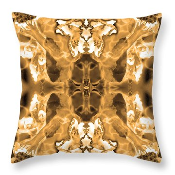 Sepia Bag Fairies 1 Throw Pillow