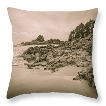 Cox Bay Sepia Throw Pillow
