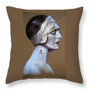Sepia Siren Throw Pillow by Lynda Robinson