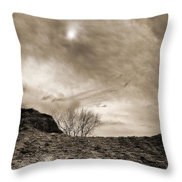 Sepia Skies Throw Pillow