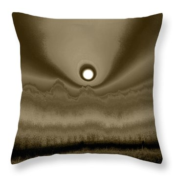 Sepia Sunrise Throw Pillow