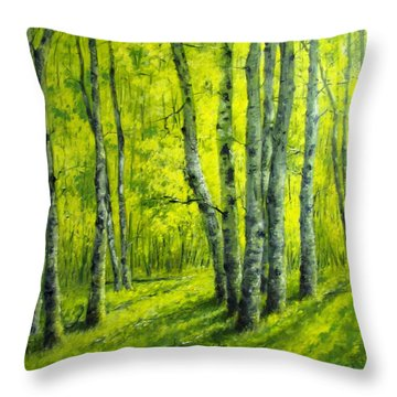 September In The Woods Throw Pillow