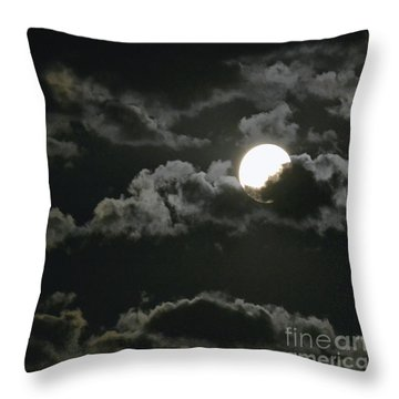 September Moon Throw Pillow by Suzette Kallen