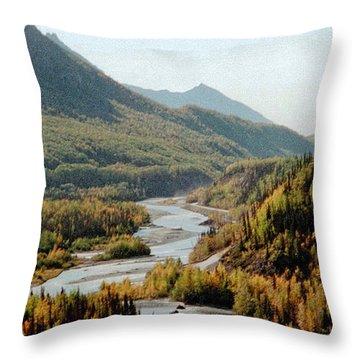September Morning In Alaska Throw Pillow