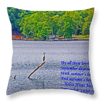 September On The Catawba River Throw Pillow by Andy Lawless