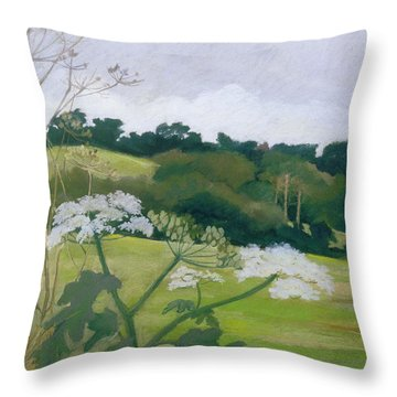 September Pastel On Paper Throw Pillow