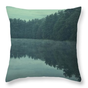 September Reflection Throw Pillow by Karol Livote