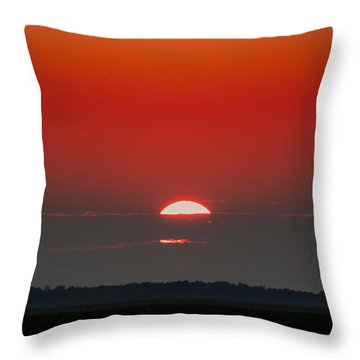 September Sky Throw Pillow by Rebecca Davis