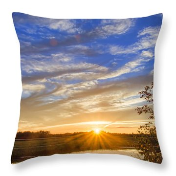 September Sky Reflection Throw Pillow
