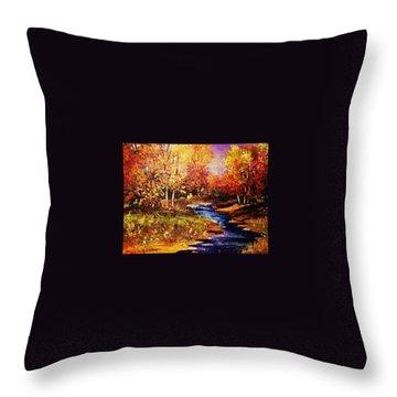 The Brilliance Of Autumn Throw Pillow