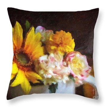 Throw Pillow featuring the digital art September Still Life by Lianne Schneider