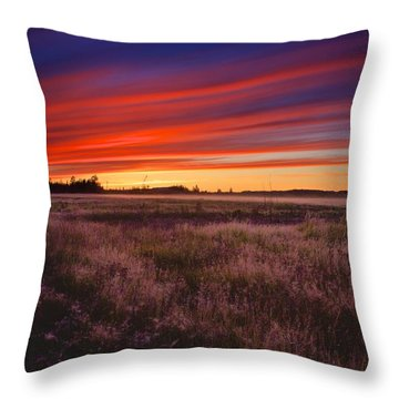 September Sunset North Pole Alaska Throw Pillow