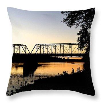 September Sunset On The River Throw Pillow