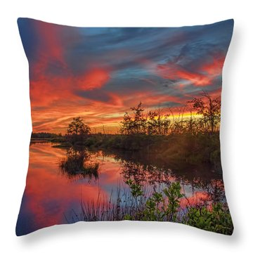 September Sunset Reflection Throw Pillow