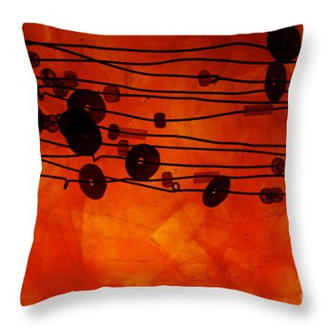 Sequence And Wire Throw Pillow