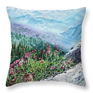 Sequoia National Park Throw Pillow by Irina Sztukowski