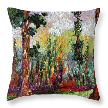 Sequoia Path National Parks  Throw Pillow