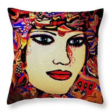 Serena Throw Pillow by Natalie Holland