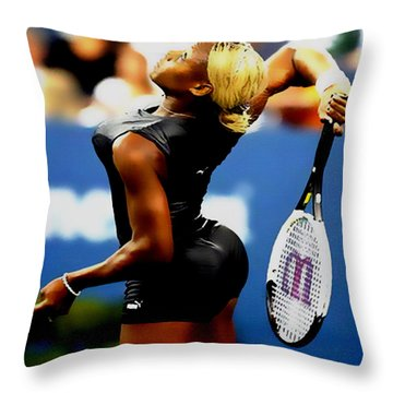 Serena Williams Catsuit II Throw Pillow