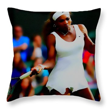 Serena Williams Making It Look Easy Throw Pillow by Brian Reaves
