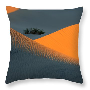 Death Valley Serenade In Light Throw Pillow