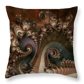 Throw Pillow featuring the digital art Serenade by Kim Redd