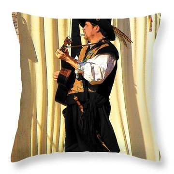 Serenade Throw Pillow by Rodney Lee Williams