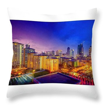 Serendra And Nearby Buildings In Bgc As Throw Pillow