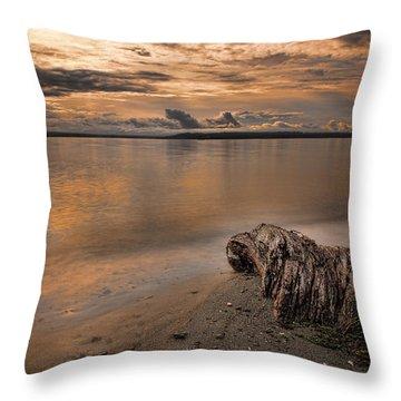 Serene Beach Throw Pillow