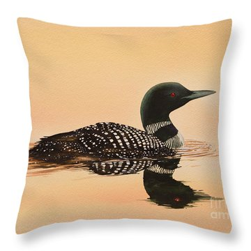 Serene Beauty Throw Pillow