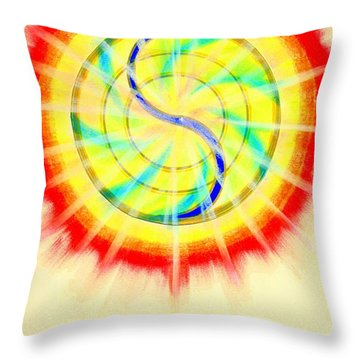 Serene Dawn Throw Pillow