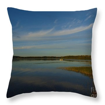Serene Dive Throw Pillow