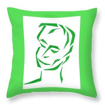 Serene Face Throw Pillow