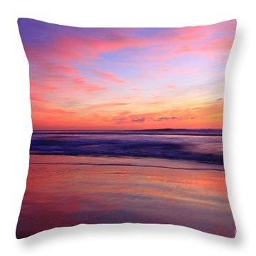 Serene Oceanside Glow Throw Pillow
