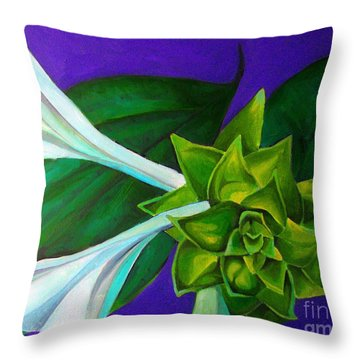 Serene Green One Throw Pillow